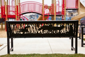 Mary Newcomb, Palladium Park benches